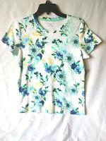 NWT Women's Laura Scott Core Tee Knit  Floral Blouse Sizes SP, S, 1X