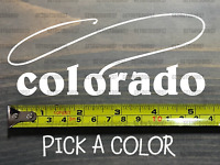 Colorado Sticker Decal White DIE CUT Fly Fishing Line Trout Rainbow XO