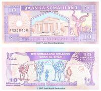 Somaliland 10 Shillings 1996 P-2b Banknotes UNC