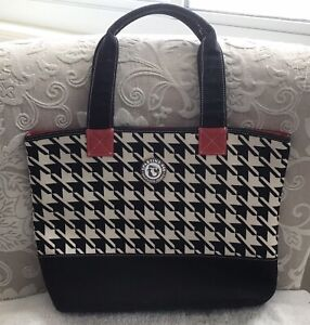 SPARTINA 449 Houndstooth Stoddard Large Market Tote Shoulder Bag Straps