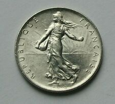1974 FRANCE Walking Liberty Coin by O.ROTY - 1 Franc - AU++ farm girl seed sower
