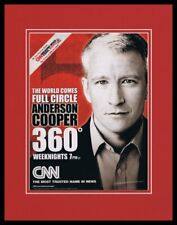 Anderson Cooper 360 CNN 2003 Framed 11x14 ORIGINAL Advertisement