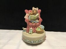 "Otagiri porcelain Mamma & baby Mice on chair music box ""The way we were� (L11)"