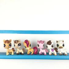 Lot 6 Littlest Pet Shop Pony Horse 684 1142 1331 578 338 LPS Set Cheval