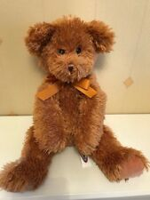 Brown Mary Meyer Teddy Bear Soft Toy Comforter With Orange Bow Plush Hug Toy