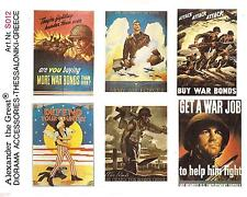 Alexander The Great WW II USA Posters in 1/35th Scale Diorama Detail S012