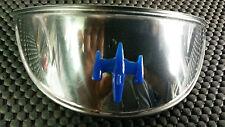 Vespa or Lambretta Chrome Headlamp Headlight Peak with Blue Gem