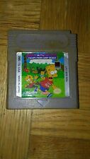 Bart Simpson's Escape From Camp Deadly (Nintendo Game Boy) Game Cart Only. FUN A