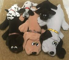 "Vintage 1985 Pound Puppies Lot - 6 Tonka Puppies - 3@18"""
