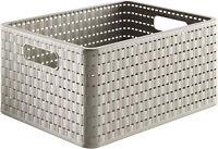 Aufbewahrungskorb grau Korb aus Kunststoff 28L Regalkorb Plastik 43x33cm       4