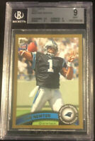 Cam Newton 2011 Topps MINT PSA 9 GOLD RC ROOKIE PATRIOTS RARE LOW POP INVEST HOT