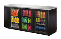 Omcan UBB-24-72G, 72.8x24.4x36.2-Inch Refrigerated Back Bar Cooler with Stainles