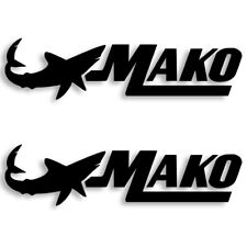 Mako Marine Boats Vinyl Decal Sticker Set of 2 Free Shipping 4 Sizes