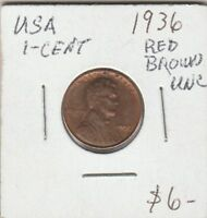 (M)  Token - USA - One Cent - 1936 - UNC