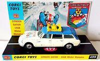 1960s CORGI 499 CITROEN SAFARI 1968 WINTER OLYMPICS Diecast Car & Custom Display