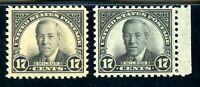 USAstamps Unused VF-XF US Wilson Pair Scott 623 & 697 OG MNH