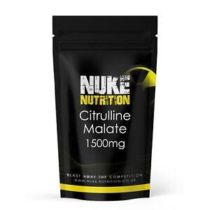 L Citrulline Malate Pre Workout 1500mg Male Enhancement Capsules Pills x 120