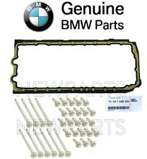 For BMW E88 E90 E61 E84 E86 E89 Motor Engine Oil Pan Gasket & Bolt Kit Genuine