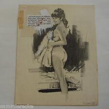 Originalzeichnung erotisches Pin-up Zeichner Miguel Gomez Esteban
