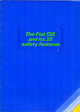 Fiat 128 1100 Saloon '38 Safety Features' 1970 UK Market Sales Brochure