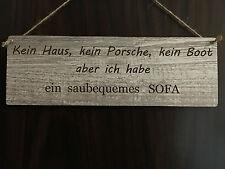 Türschild DekoSchild Landhaus Vintage Shabby Retro Kein Haus -  bequemes Sofa