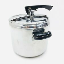 """Vintage Lagostina NH1 8"""" Thermoplan Pressure Cooker Stainless Steel Italy 18/10"""