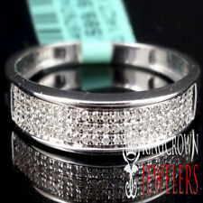 Diamante Vero 10k Finitura in Oro Bianco Uomo Matrimonio Anniversario Anello