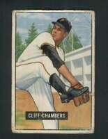 1951 Bowman #131 Cliff Chambers GVG Pirates 105402