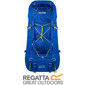 REGATTA BLACKFELL II 60 + 10 LITRE RUCKSACK BACKPACK BLUE HIKING TREKKING EU149