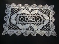 Vintage Cotton Lace Doily Ivory Doily Handmade Lace Cottage Decor Shabby Chic