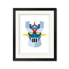 Mazinger Z Old School Vintage Super Robot Poster Print