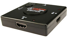3 WAY HDMI AUTO SWITCH 3 into 1 Ideal for  for 3d HDTV Auto with Manual Buttons