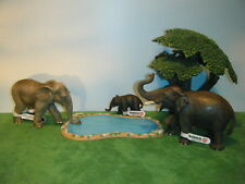 SCHLEICH ASIAN ELEPHANT #14144 CALF #14343 & NWHD FEMALE #92023 SET OF 3  *NEW*