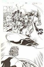 Hercules: Twilight of a God #1 p.22 Alien Silver Surfer Splash - 2010 by Ron Lim Comic Art