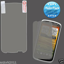HTC One VX AT&T Ultra Clear Screen Protector+Cleaning Cloth Twin Pack