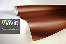 Vvivid 1ft x 5ft copper chrome satin-matte car wrap vinyl