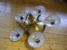 Art Deco Jugendstil KRONLEUCHTER Lüster vintage/rein Messing Chandelier 5 light