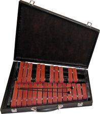Xylophon, 2 Oktaven, 25 Palisander Klangplatten, mit Schlegel + stabilem Koffer