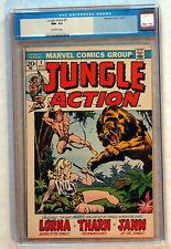 JUNGLE ACTION #1 Marvel 1972 LORNA Tharn Jann of the Jungle CGC NM- 9.2