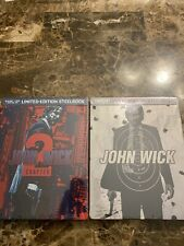 Brand new John Wick LIMITED EDITION STEELBOOK Lot Chapter 1 And 2 BLU-RAY + DVD