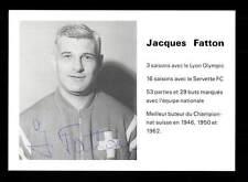 Jacques Fatton Autogrammkarte Schweiz WM 1954 Original Signiert+A 152782