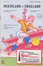 Programme / Programma Holland v England 05-12-1964