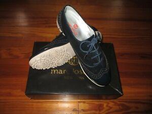 New Marc Joseph Ladies Golf Shoes Size 7.5 Navy Glaze Pro Shop Price $195