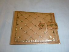 Vtg Gold Embossed Leather Bifold Wallet Never Used NEW