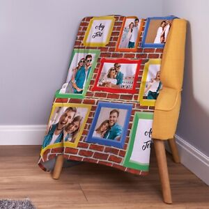 Personalised Picture Frames On Wall Photo Fleece Throw Blanket