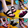 Summer Womens Casual Beach Open Toe Shoes Lady Flip Flops Slippers Flat Sandals