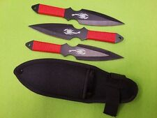 Get your Red Hot Red Scorpion Throwing Knife Set