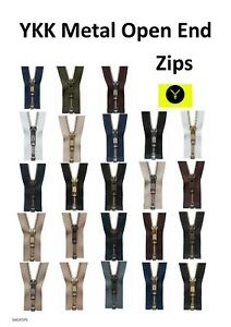 YKK Metal Brass Strong Open End Zip / 150+ Variations / Jackets / Coat Zips