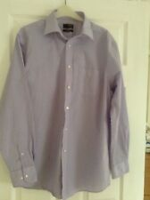 Mens Thomas Nash Lilac stripe , classic fit, long sleeve Shirt,collar size 16 in