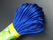 3mm Chinese Knot Satin Nylon Braided Cord   Blue Beading Rattail Wire Cords